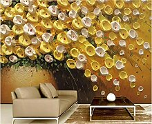 Tapeten Wandbilder 3D Effekt Goldene Gelbe