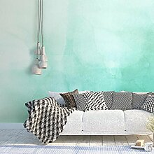 Tapeten, Wanddeko, Tapete (195 x 130 cm, Grün Ombre Aquarell Selbstklebende Tapete DIY Wanddeko Kreative Ideen)
