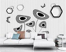Tapeten Wohnzimmer Wandbild Schwarz Weiße Blumen