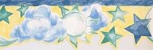 Tapetenbordüre – Sonne, Sterne und Mond –
