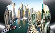 Tapeto Fototapete - Ausblick Dubai Stadt Skyline -