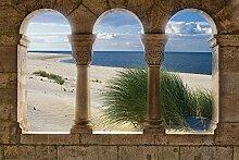 Tapeto Fototapete - Ausblick Sylt Strand Meer -