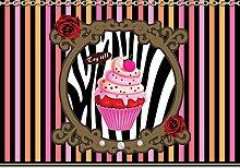 Tapeto Fototapete - Cupcake Streifen Rosen Muster