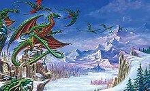 Tapeto Fototapete - Drachen - Vlies 104 x 70,5 cm