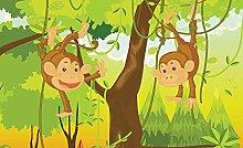 Tapeto Fototapete - Dschungel Affen - Papier 254 x