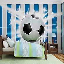 Tapeto Fototapete - Fußball Blau Weiss Streifen -