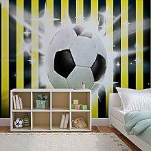 Tapeto Fototapete - Fußball Gelb Schwarz Streifen