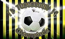 Tapeto Fototapete - Fußball Gelb Schwarz - Vlies