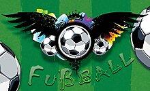 Tapeto Fototapete - Fußball Muster - Papier 368 x