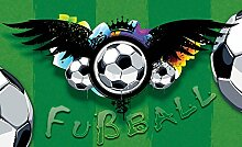 Tapeto Fototapete - Fußball Muster - Vlies 152,5
