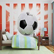 Tapeto Fototapete - Fussball Rot Weiss Streifen -