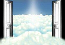 Tapeto Fototapete - Himmel-Wolken Türen - Vlies