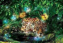 Tapeto Fototapete - Leopard Dschungel - Vlies 104