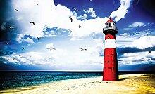 Tapeto Fototapete - Leuchtturm Strand - Papier 254