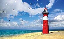 Tapeto Fototapete - Leuchtturm Strand - Papier 368