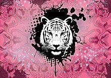Tapeto Fototapete - Tiger Abstrakt - Papier 254 x