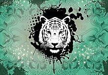 Tapeto Fototapete - Tiger Abstrakt - Vlies 416 x