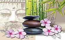 Tapeto Fototapete - Zen Buddha Blumen - Vlies 368