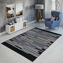 TAPISO Canvas Teppich Wohnzimmer Kurzflor Modern