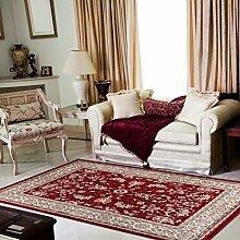 TAPISO® COLORADO Teppich Klassisch Kurzflor | Orientalisch Teppiche in Rot Creme mit Floral Ziegler Ornament Muster | Traditionell Orientteppich ideal für Wohnzimmer, Schlafzimmer | ÖKOTEX 250 x 350 cm