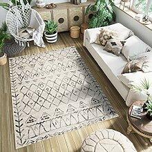 Tapiso Ethno Teppich für Wohnzimmer,