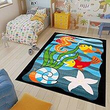 TAPISO Kinder Teppich Kurzflor Kinderteppich Meer
