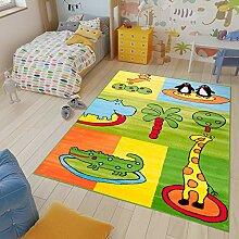 TAPISO Kinder Teppich Kurzflor Kinderteppich Weich