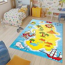 TAPISO Kinder Teppich Kurzflor Spielplatz