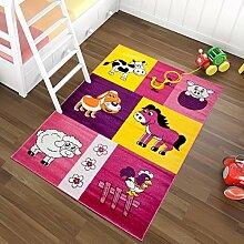 Tapiso Kinder Teppich Kurzflor Spielteppich