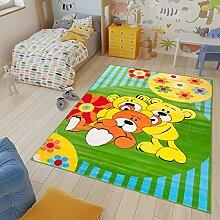 TAPISO Kinder Teppich Kurzflor Weich Kinderteppich