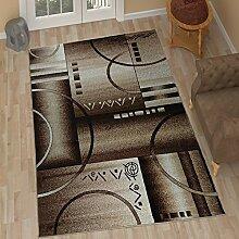 TAPISO Tango – Traditionell Beige Teppich für Wohnzimmer - Perser Blumenmuster Geometrisch Kreisförmig für Klassische Inneneinrichtung - Hochwertiger Teppich für Schlafzimmer - Traditioneller Design für zu Hause 190 x 270 cm