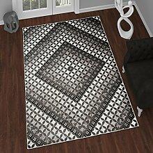 TAPISO Tango – Traditionell Grau Teppich für Wohnzimmer - Perser Blumenmuster Geometrisch Kreisförmig für Klassische Inneneinrichtung - Hochwertiger Teppich für Schlafzimmer - Teppich im Traditionellen Design für zu Hause 80 x 150 cm