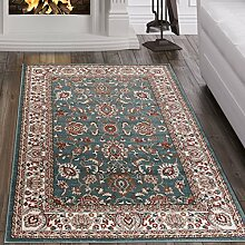 Tapiso Teppich Wohnzimmer ORIENTTEPPICH Klassisch Muster Ornamente Blau Qualität Öko Tex - Dubai Kollektion 160 x 220 cm