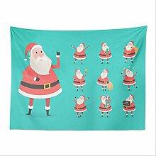Tapisserie, Cartoon Pop Weihnachtsmann Tapisserie