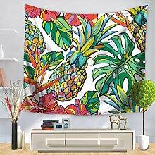 Tapisserie Wandbehang Tropische Pflanze bemalte
