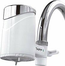 Tapp 1 - Wasserfilter Für Den Wasserhahn Von Tapp Water (Reduziert Chlorgehalt, Pestizide, Schwermetalle), Weiß, Chrome, 1500 Liter
