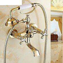 Taps Kupfer und gold Bad/Dusche