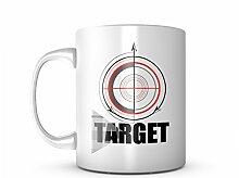 Target Crosshair Keramik Tasse Kaffee Tee Becher