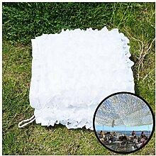 Tarnnetz für Garten, Weiß 2x3m 5x3m Tarnung Netz
