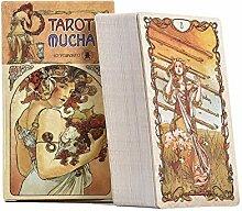 Tarot Karten 78 Stück Mucha Orakelkarten Tarot -