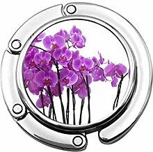 Tasche Kleiderbügel Haken Orchidee Blume Aquarell