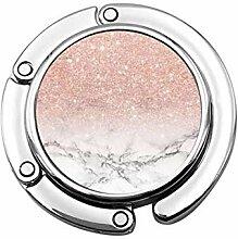 Tasche Kleiderbügel Haken Pink Gold Weiß Marmor