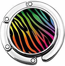 Tasche Kleiderbügel Haken Regenbogen Zebras Print