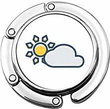 Tasche Kleiderbügel Haken Sonnenwolke Symbol