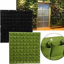 Taschen Pflanztaschen Wandbehang Gartenarbeit Pflanzer Outdoor Indoor Vertikale Greening Grow Taschen Flower Growing Container ( Farbe : Schwarz )