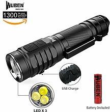 Taschenlampe 3* LED Super hell 1300 Lumen CREE