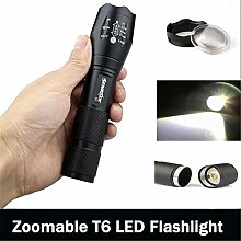 Taschenlampe, happytop 2500LM T6LED 5Modi