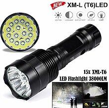 Taschenlampe, happytop 30000lumen Bedienung 15x