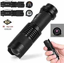 Taschenlampe, happytop 5W Zoom IR-Lampe 850nm Taschenlampe Jagd Taschenlampe Lampe mit Infrarot-Licht Nacht VISION geltenden