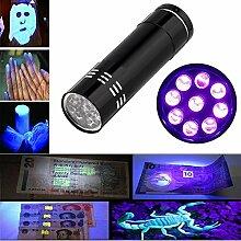 Taschenlampe, happytop Mini Aluminium UV Ultra